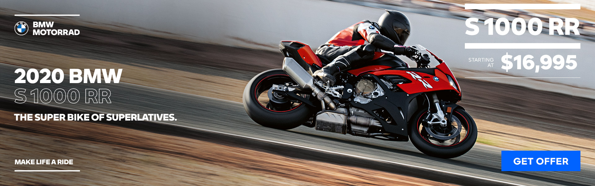 2020 BMW S 1000 RR - STARTING AT $16,995
